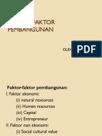 FAKTOR PEMBANGUNAN