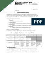 academic foundations rubric syllabus - google docs