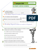 Grammaire 04 Phrase Simple Et Phrase Complexe