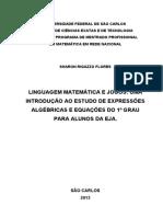 Jogos - Expressões Algébricas e Equações Do 1º Grau