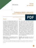 Ciudadanía digital y educación