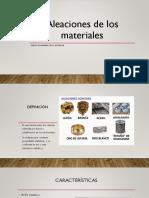 Aleaciones de Los Materiales