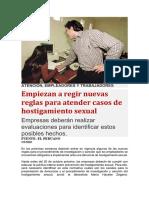 ATENCIÓN PARA CASOS DE HOSTIGAMIENTO SEXUAL