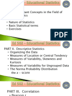 The Basic Concepts Statistics