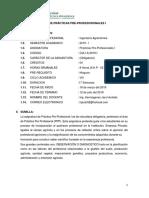 Sílabo de Prácticas Pre-profesionales i 2019 - i - A