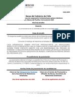 Convocatoria Becas Del Gobierno de Chile Para Pa Ses Miembros de La Alia