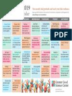 September 2019 GGSC Happiness Calendar