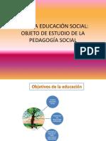 CAP.4 La Educación Social Como Objeto de Estudio de La Ps