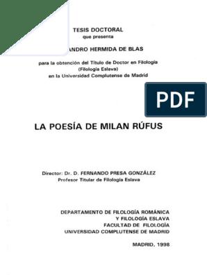 Milán Rufus Poesía Surrealismo