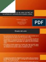Efecto de La Presencia de Vapor de NaCl en La Sulfatación Indirecta de La Piedra Caliza. (m)