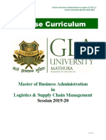 Syllabus MBA MLSCM