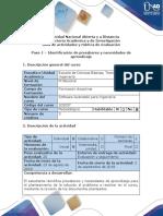 Guía de Actividades y Rúbrica de Evaluación - Paso 1 - Identificación de Presaberes y Necesidades de Aprendizaje
