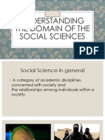 Domain of the Social Sciences