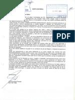 Carta notarial de Gonzales Posada