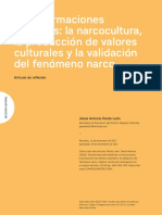 La validación del fenómeno narco
