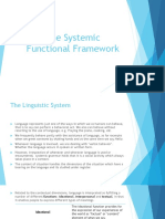 Unit 1 (the Systemic Functional Framework)