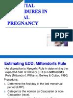 3. Essential Procedures in Normal Pregnancy