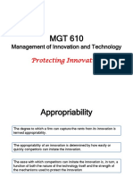 MGT 610_Protecting Innovation
