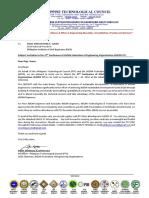 CAFEO37 Invitation Letter Philippine Institute of Civil Engineers