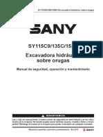 Crawler Hydraulic Excavator SOM SY135C_ES