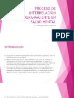 Proceso de Interrelacion Enfermera-paciente en Salud Mental
