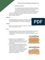 Qué Son Los Sólidos Cristalinos y Amorfos