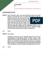 Catholic Exorcism and Sealing of Venue