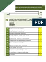 EDHA Quinto y Sexto de primaria – 10 a 11 años (Excel software)