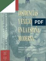 Dicidencias y Exilios en La España Moderna
