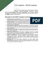 Accenture SWOT Analysis