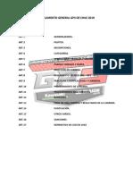 Reglamento General Gp3 de Chile 2019