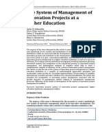 The System of Management of Innovation Projects at a Higher Education