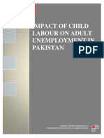 Impact of Child Labour on Unemployment in Pakistan