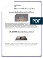 A Timeline of Events in Electromagnetism