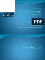 Machine Learning Chapter 1