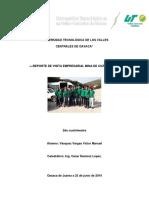 Victor Manuel Vasquez_reporte de Visita Empresarial Mina de Cuzcatlán