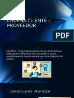 Cadena Proveedor-cliente