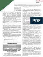 Convocan a Elecciones Para Las Juntas Vecinales Comunales Del Cercado de Lima Correspondientes Al Período 2019 - 2021