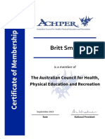 b smith - achper membership certificate 2019