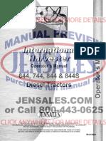 International Harvester Tractor Operators Manual Ih o 644 (1)
