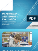 Measurement, Assessment & EVALUATION