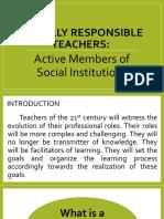 Socially Responsible Teachers
