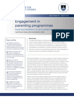Engagement in Parenting Programmes