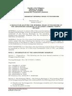 Villavert-Jimenez Internal Rules of Procedure Integrate