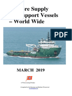Offshore Supply and Support Vessels Worldwide 032019
