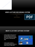 Video Lecture Recording System