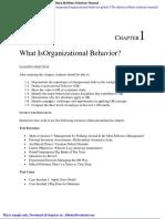 Organizational Behavior Global 17th Edition Robbins Solutions Manual