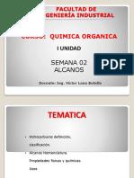 Semana 02 Quimica Organica ALCANOS