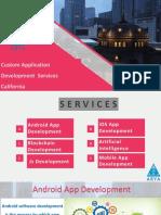 Custom Application Development  Services California