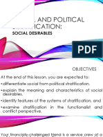 Social and Political Stratification